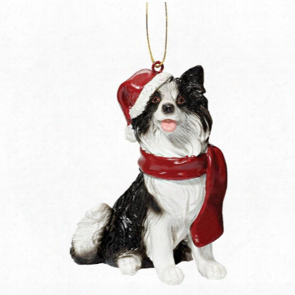 Border Collie Holiday Dog Ornament Engrave