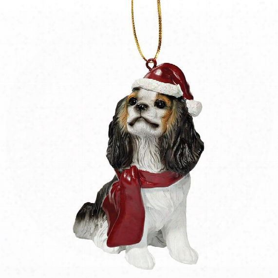 Cavalier King Charles Spaniel Holiday Dog Ornament Sculpture