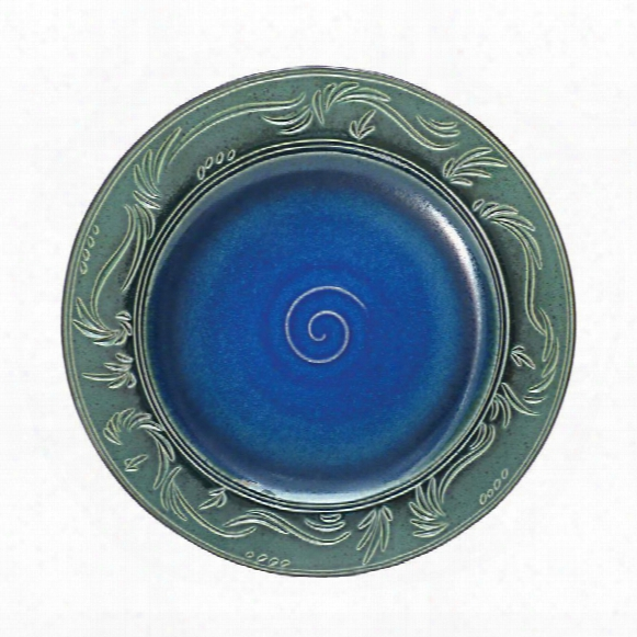 "Chenoa Carved 14""ceramic Plate"