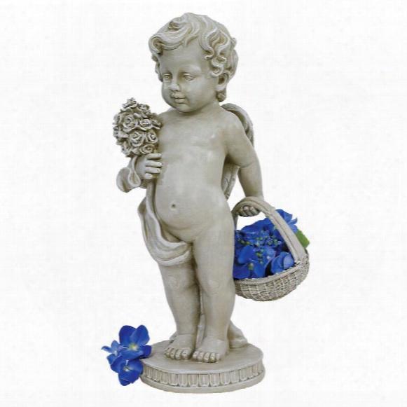 Cherub's Bouquet Stattue