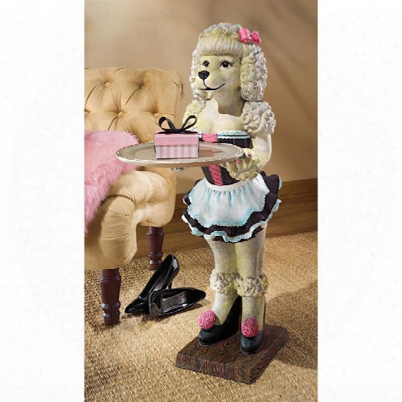 Coco, The Parisian Poodle Serving Table