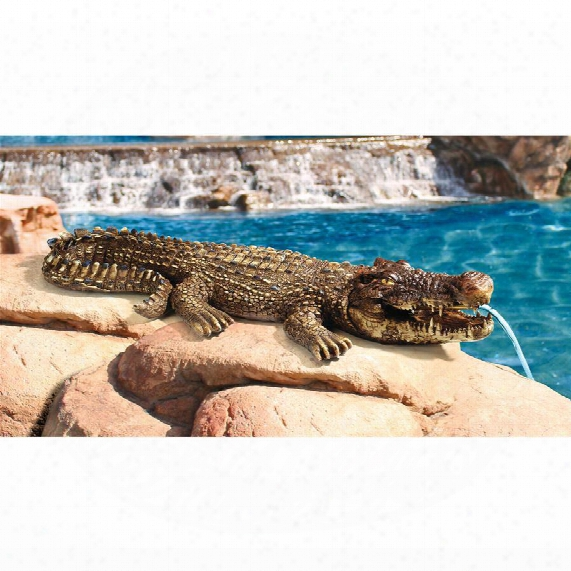 "Crotchety Crocodile"" Piped Spitting Statue"