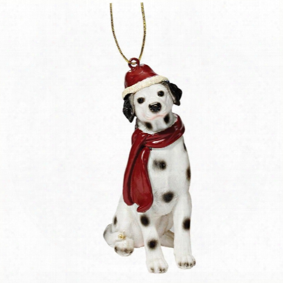 Dalmatian Holiday Dog Ornament Sculpture
