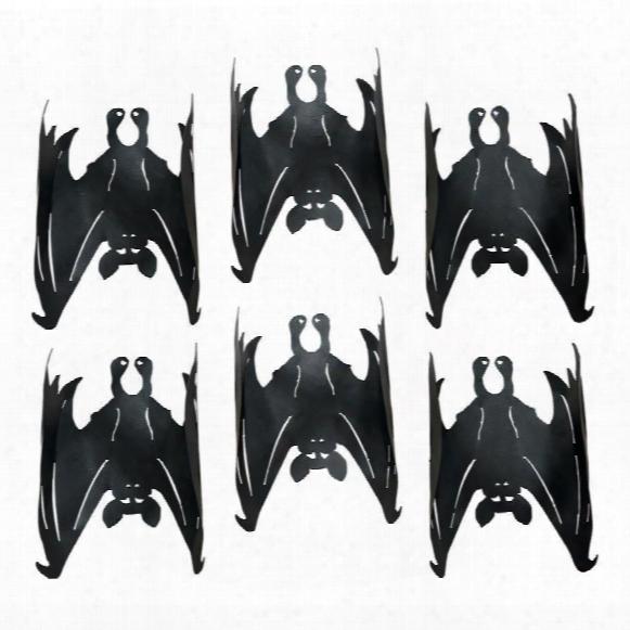 Dark Side Vampire Bats Metal Wall Sculptures: Set Of 6