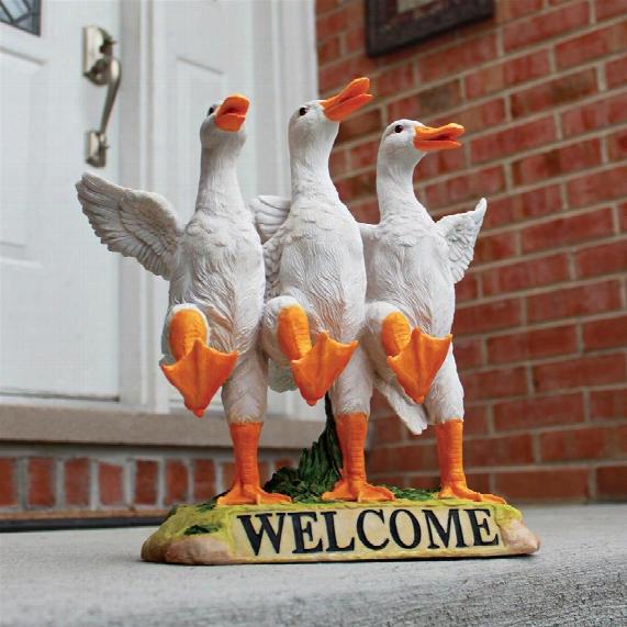 """Delightful Dancing Ducks"""" Welcome Sign"""