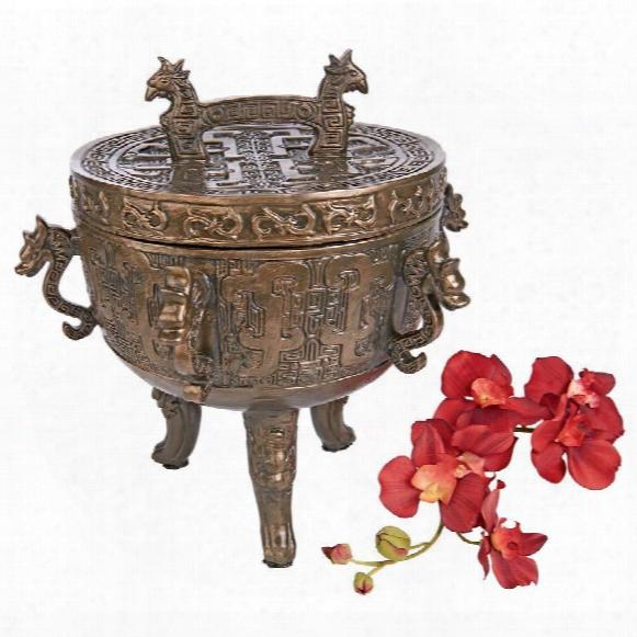 "Dragon Temple"" Faux Incense Sensor Urn"