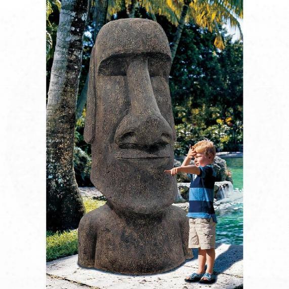 Easter Island Ahu Akivi Moai Monolith Statue: Giant