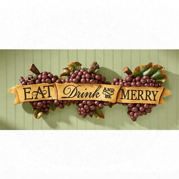 Eat, Drink And Be Merry Wall Sculpture