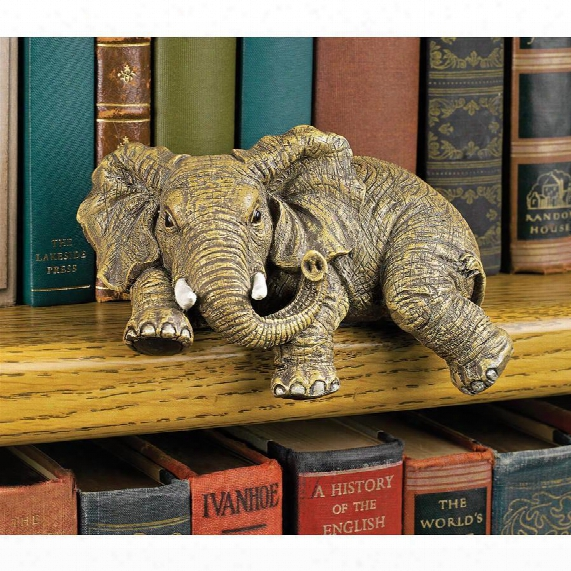 "Ernie The Elephant"" Shelf Sitter Sculpture"