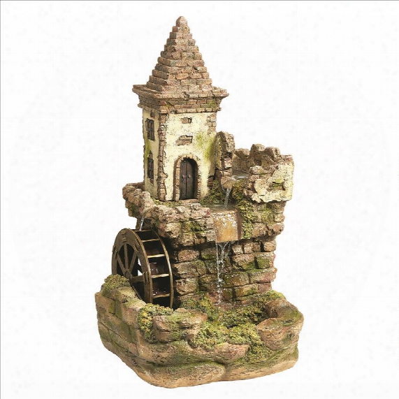 Fairy Village Waterwheel Sculptural Fountain