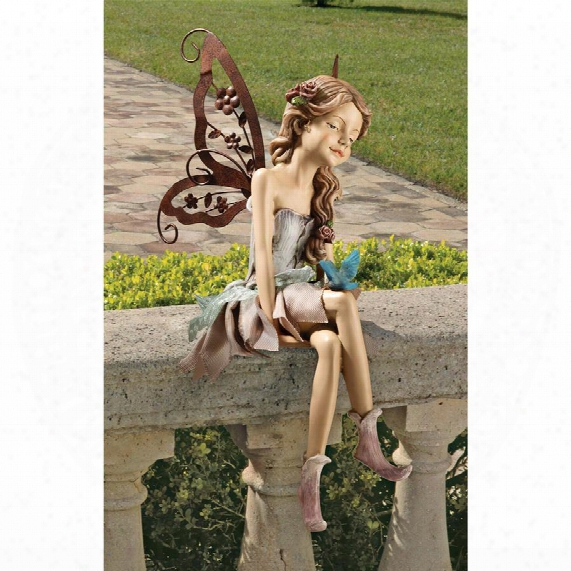 "Fannie, The Fairy"" Sitting Statue"