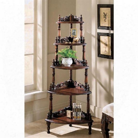 Five-tiered Edwardian Corner Shelf
