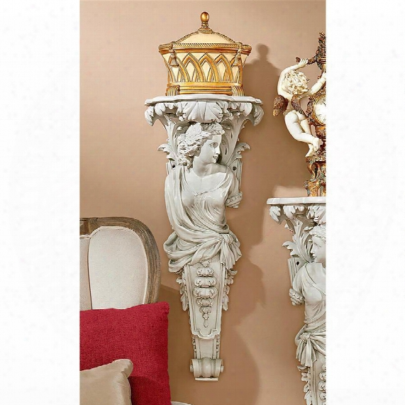 French Baroque Caryatid Facing Right Wall Sculpture