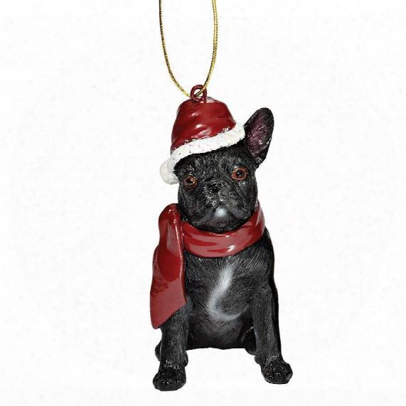 French Bulldog Holiday Dog Ornament Engrave
