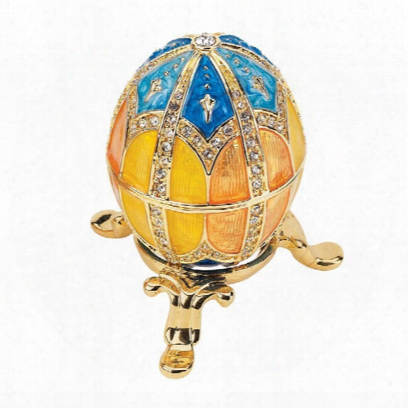 Grand Duchess Collection Faberge-style Enameled Egg: Nikolaevna