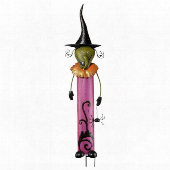 Halloween Ghoulish Gang Metal Garden Stakes: Witchie Witch