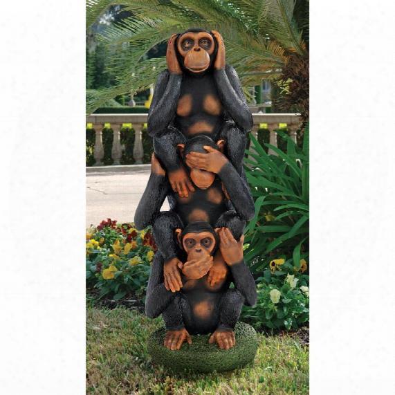 Hear No Evil, See No Evil, Speak No Evil Monkeys Grand-scale Statue