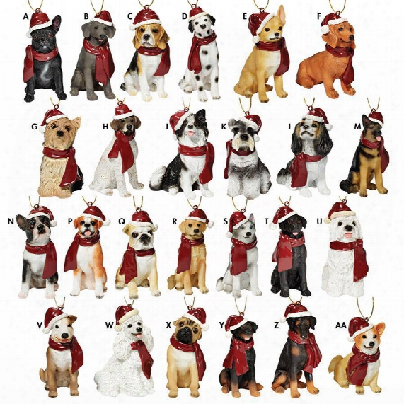 Holiday Dog Ornaments Complete Set Of 25