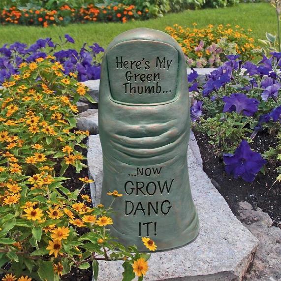 Horticulturist's Green Thumb Garden Statue