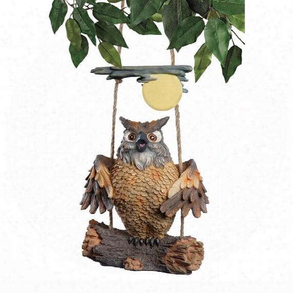 Howie The Hoot Owl Swinging Sculpture