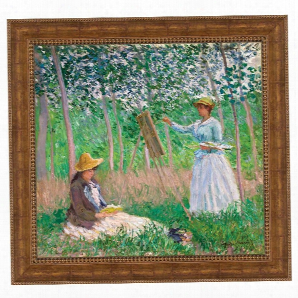 In The Woods At Giverny: With Hosched Sisters, 1887: Canvas Replica: Grande