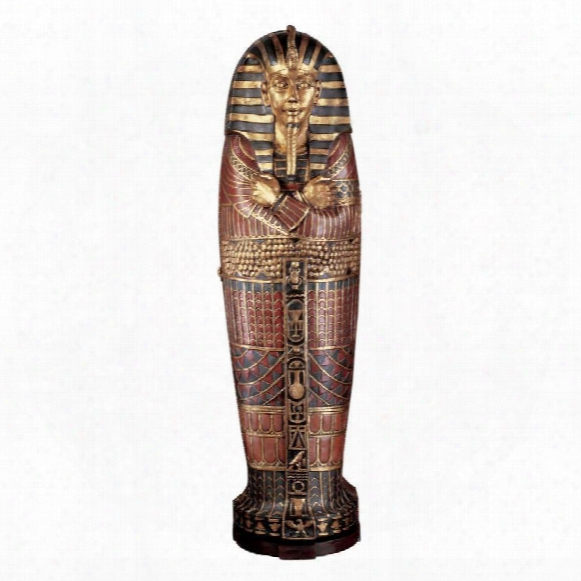 King Tutankhamen's Life-size Sarcophagus Cabinet