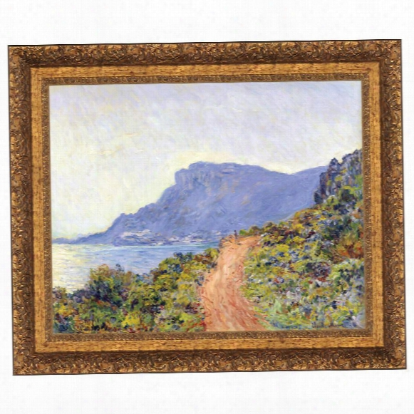 La Corniche At Monaco, 1884: Canvas Replica Painting: Grande