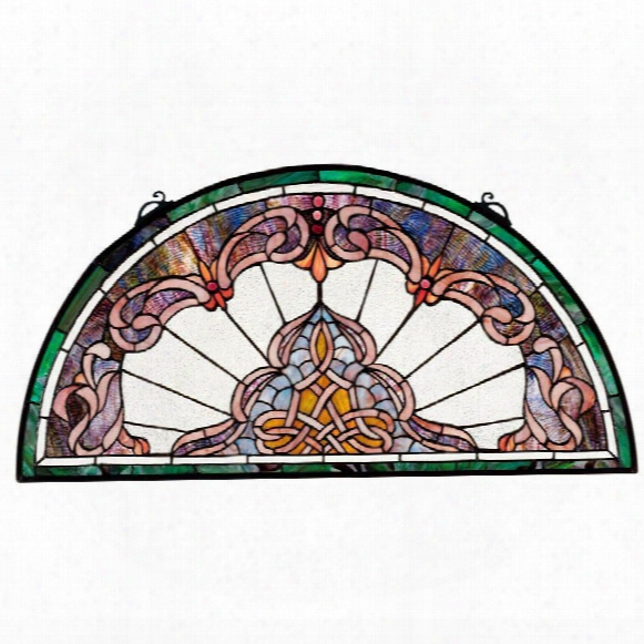 Lady Astor Demi-lune Stained Glass Window