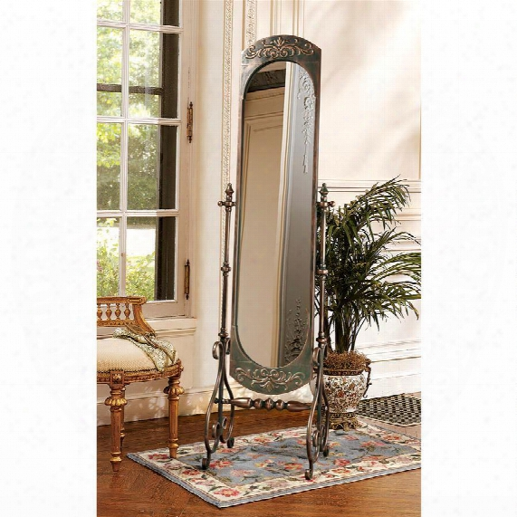 Lady Constance Crafted Metal Full Length  Cheval Mirror