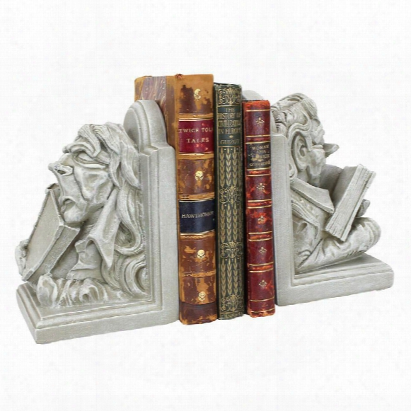 Literary Bookworm Sculptural Bookend Pair