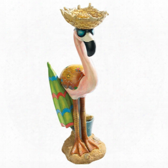 Luau Larry The Flamingo Pink Flamingo Garden Statue