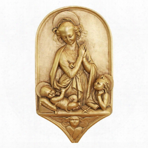 Madonna And Child With The Infant St. John The Baptist Wall Sculpture
