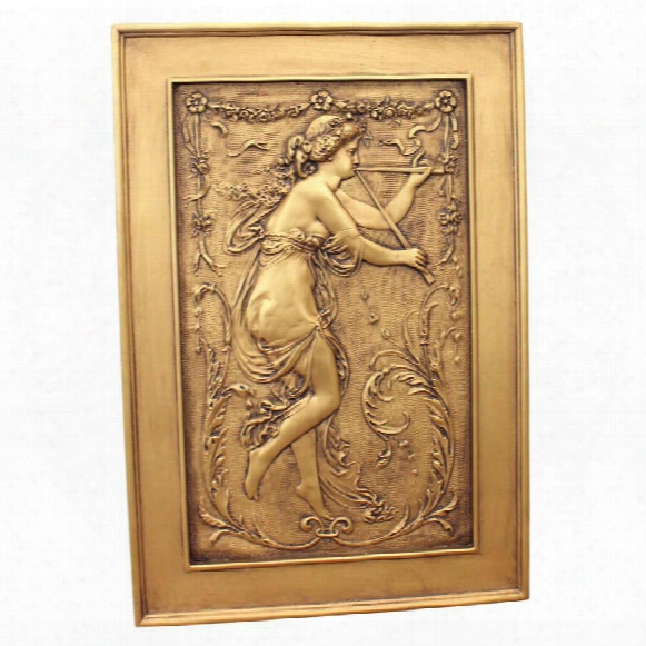 Maiden Playing Flute Wall Sculpture