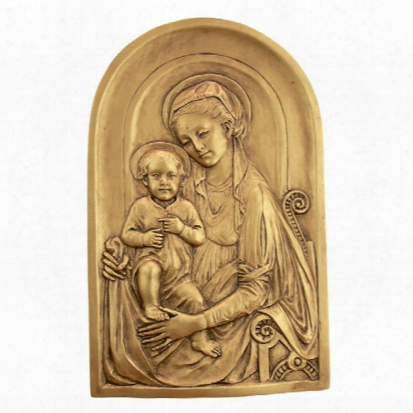 Mother Mary And Infant Jesus Wall Sculpture