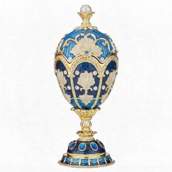 Nikolaievich Faberge-style Enameled Egg