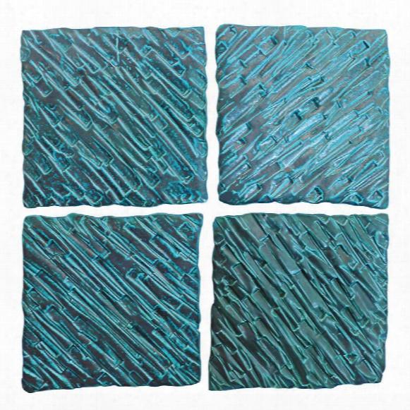 Nova Textred Ceramic Wall Tiles Set Of Four