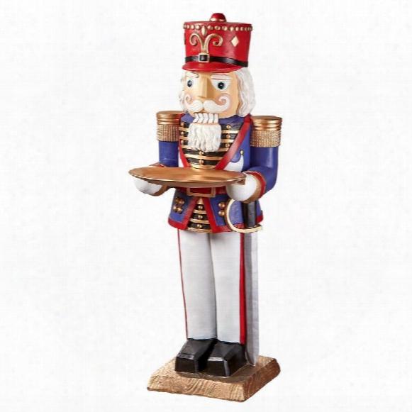 Nutcracker Soldier Butler Holiday Pedestal Table