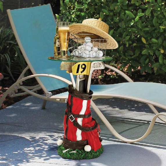 "On Par Golf Bag"" Sculptural Glass-topped Table"