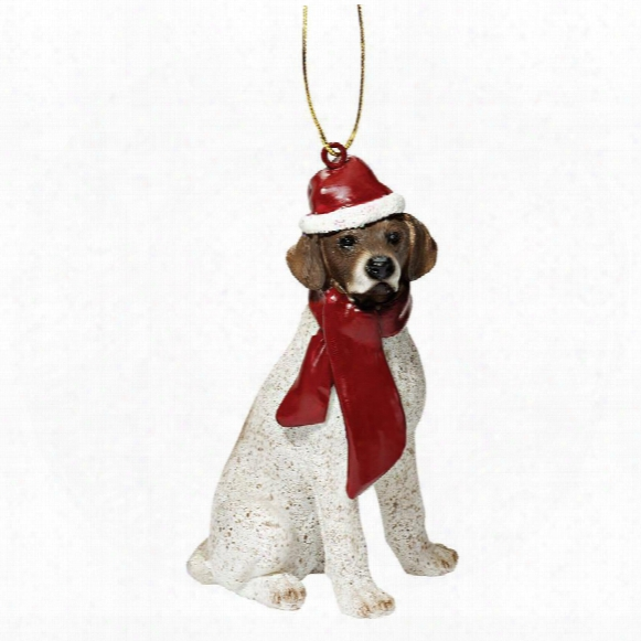 Pointer Holiday Dog Ornament Sculpture