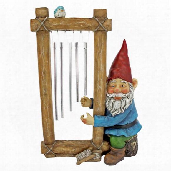 Ringing His Chimes Garden Gnome Statue