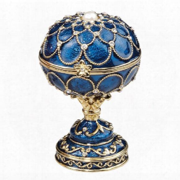 Royal Palace Faberge-style Enameled Eggs: Peterhof