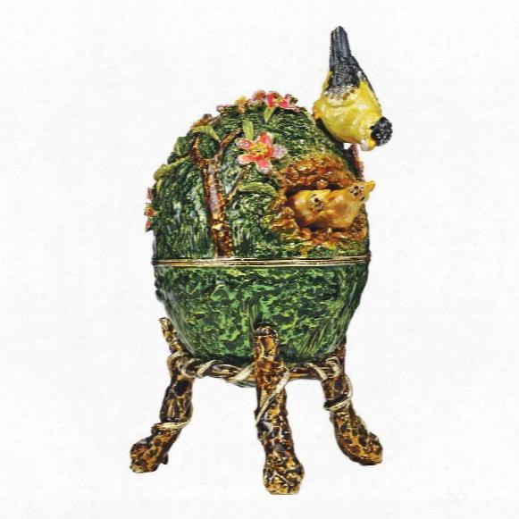 Ruling The Nest Faberge-style Enameled Egg