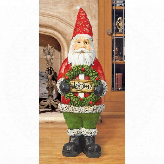 Santa Welcoming Holiday Guests Statue