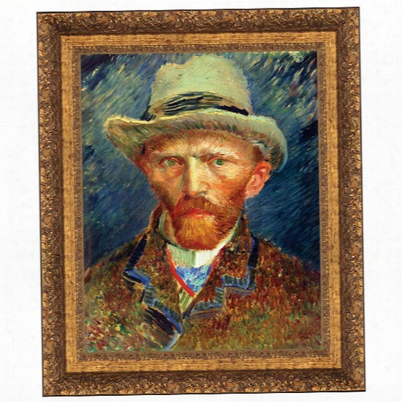 Self Portrait, Vincent Van Gogh, 1887: Canvas Replica Painting: Grande