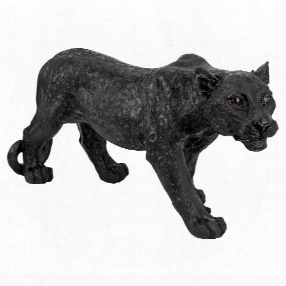 Shadowed Predator Black Panther Statue: Small