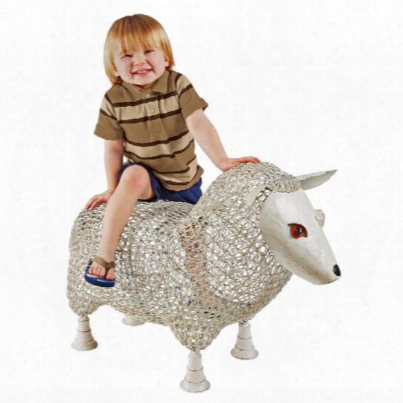 Sheep Settee Sculptural Metal Garden Bench