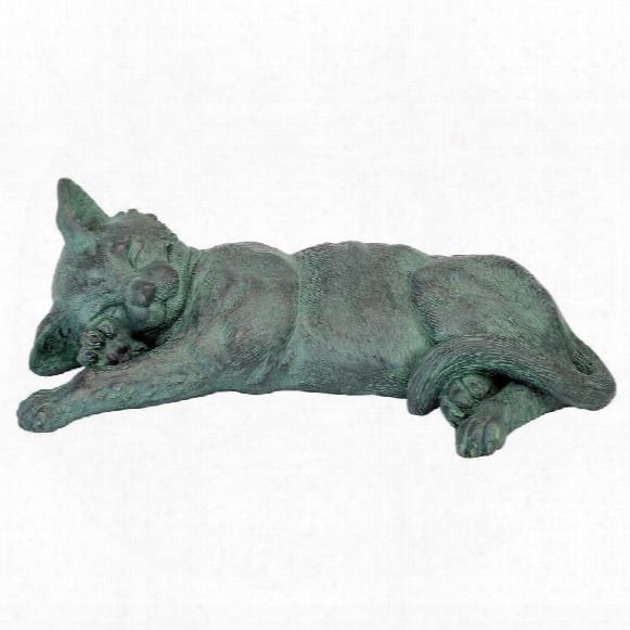 Sleeping Kitty Cat Kitten Statue