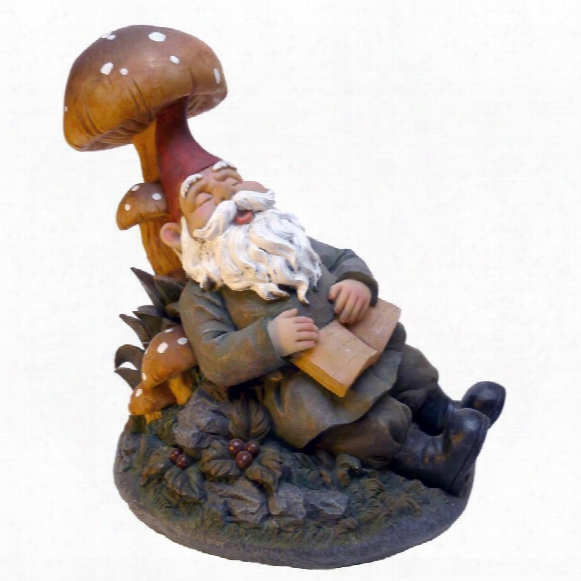 Snoozing Booker The Garden Gnome Statue