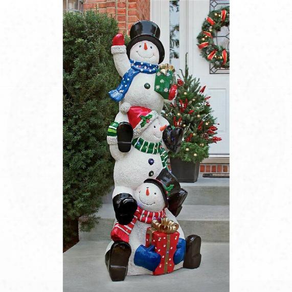 Snowbro Illuminated Snowman Statue