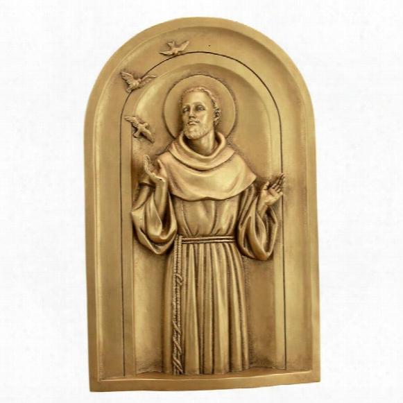 St. Francis Good News Wall Sculpture